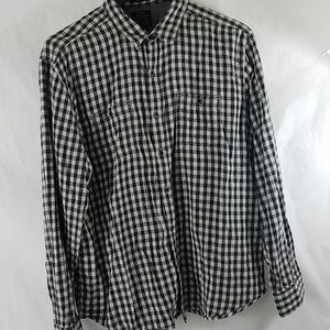 Lucky Brand Black Label Plaid Flannel Shirt